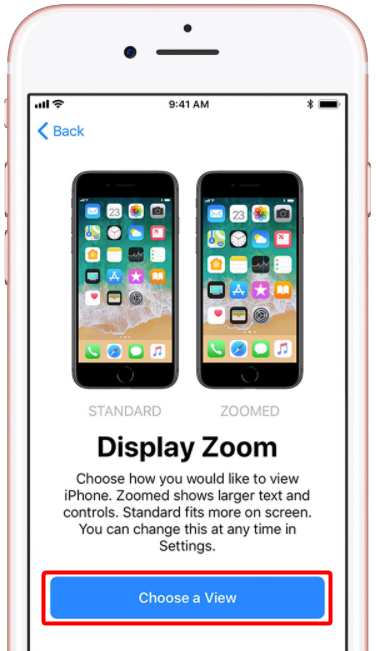 Deux résolutions d'écran sur iPhone 8