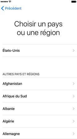 Sélectionnez langue et région