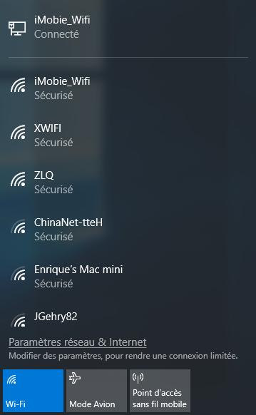 Activer l'option Wi-Fi sur l'ordinateur