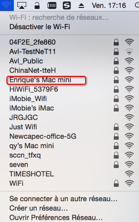 Activer l'option Wi-Fi sur Mac