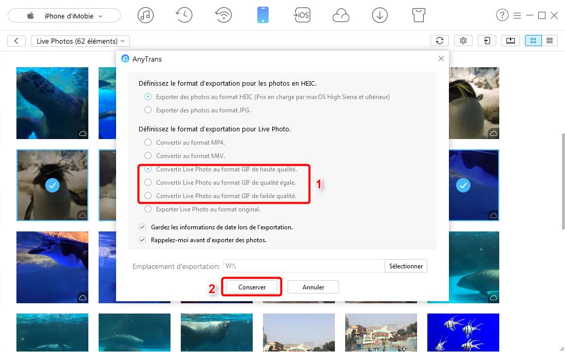 Comment convertir les Live Photos en GIF sur l'ordinateur - étape 4