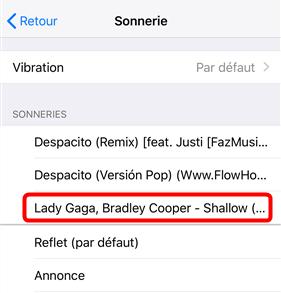 Transformer les musiques MP3 en sonnerie – étape 4