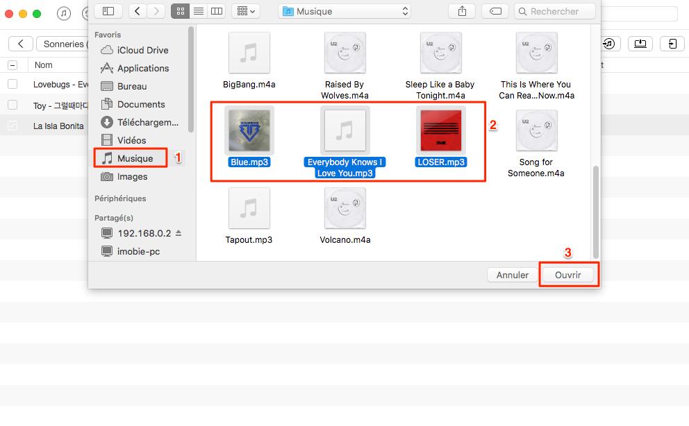 Convertir MP3 en sonnerie pour iPhone - étape 4