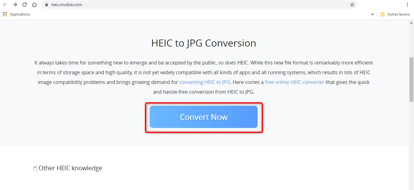 Accès au module de conversion