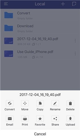 Convertir une photo iPhone en PDF - étape 1
