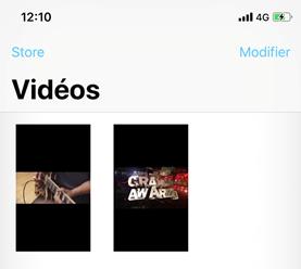 Transformer les vidéosAVI en MP4 sur iPhone