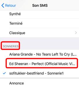 Comment ajouterles sonneries de message sur iPhone