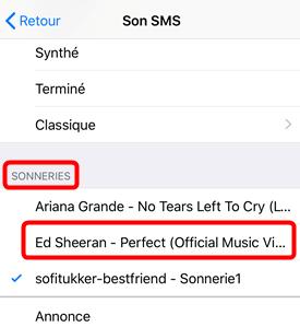 Comment ajouterles sonneries de SMS sur iPhone
