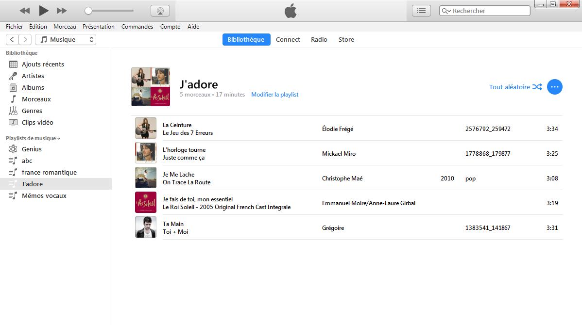 Comment créer la liste de lecture iTunes directement