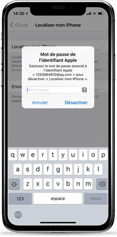 iPhone bloqué sur iCloud