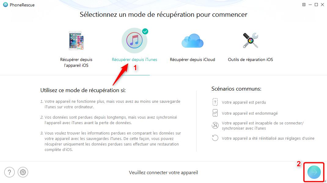 Comment décrypter une sauvegarde iTunes sous Windows – étape 1