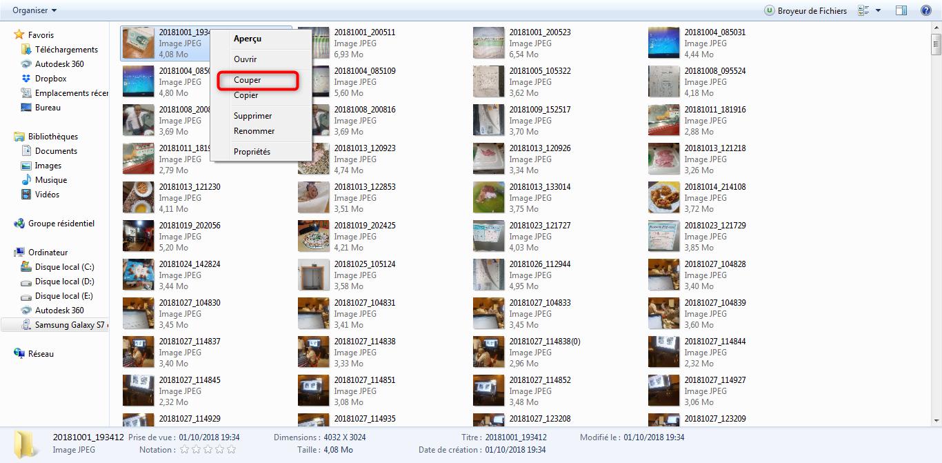 Comment mettre les photos sur la carte SD - étape 2