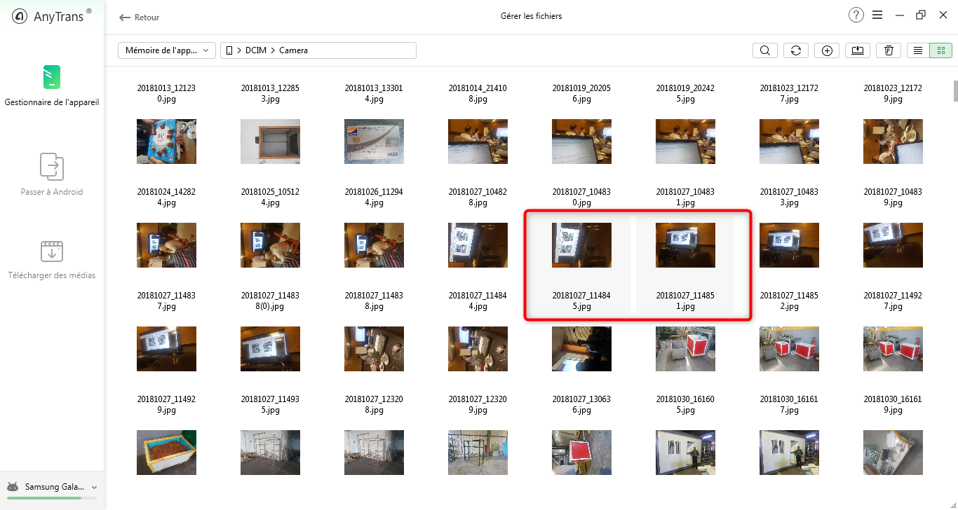 Comment sauvegarder les photos sur la carte SD - étape 2