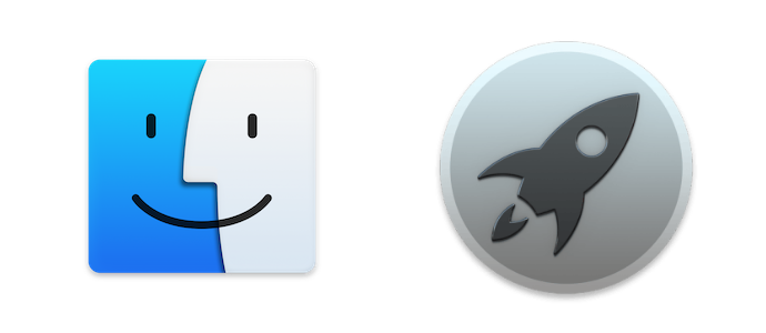Finder et Launchpad