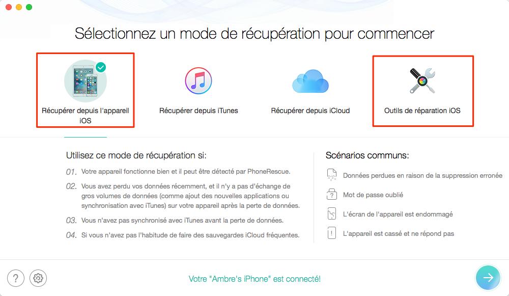 Puissant Outil de Récupération de données iOS