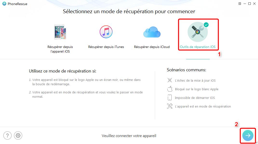 Comment restaurer iPhone bloqué après la downgrade