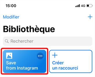 Enregistrer des photos Instagram sur iPhone