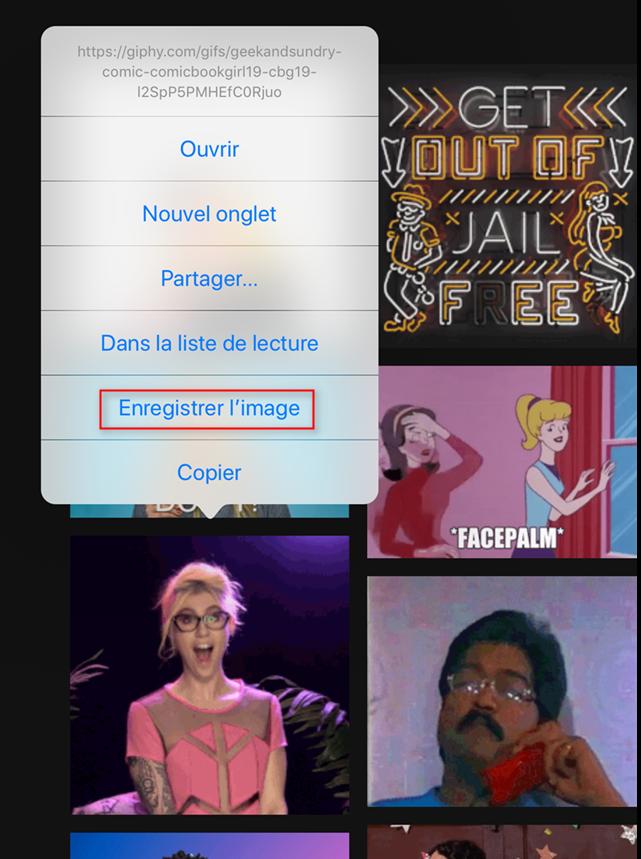 Comment enregistrer et afficher des GIF sous iOS 11sur iPhone/iPad