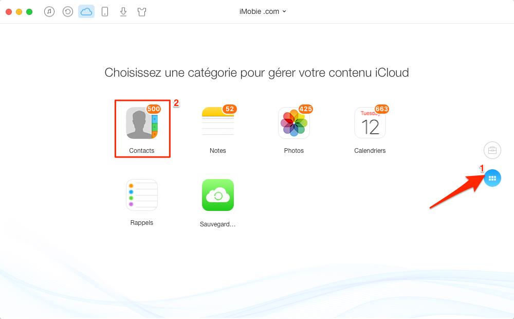 Comment exporter/extraire les contacts sur iCloud – étape 3