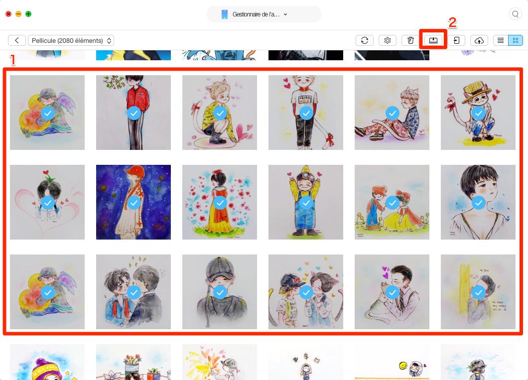 Extraire les photos iPhone vers Mac - étape 3