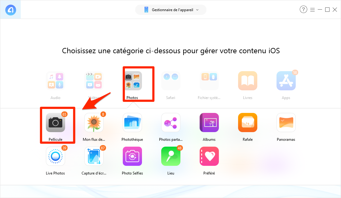 Comment extraire les photos iPhone vers PC