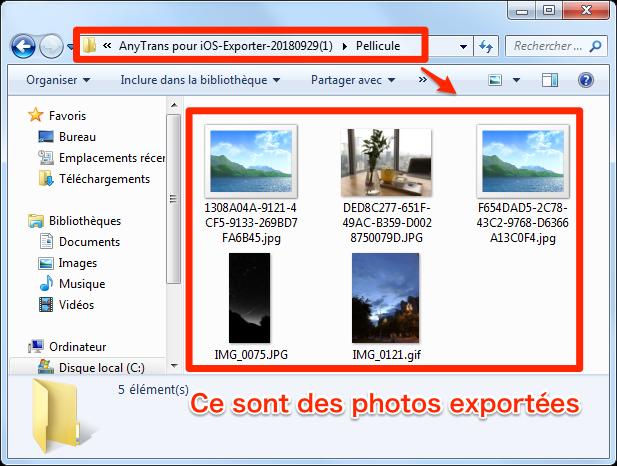 Extraire les photos iPhone XS vers PC
