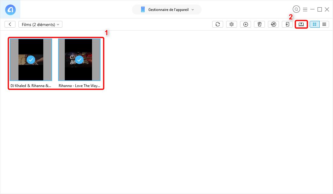Comment extraire les vidéos iPhone sur PC
