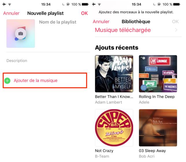 Faire une playlist sur votre iPhone/iPad avec facilité