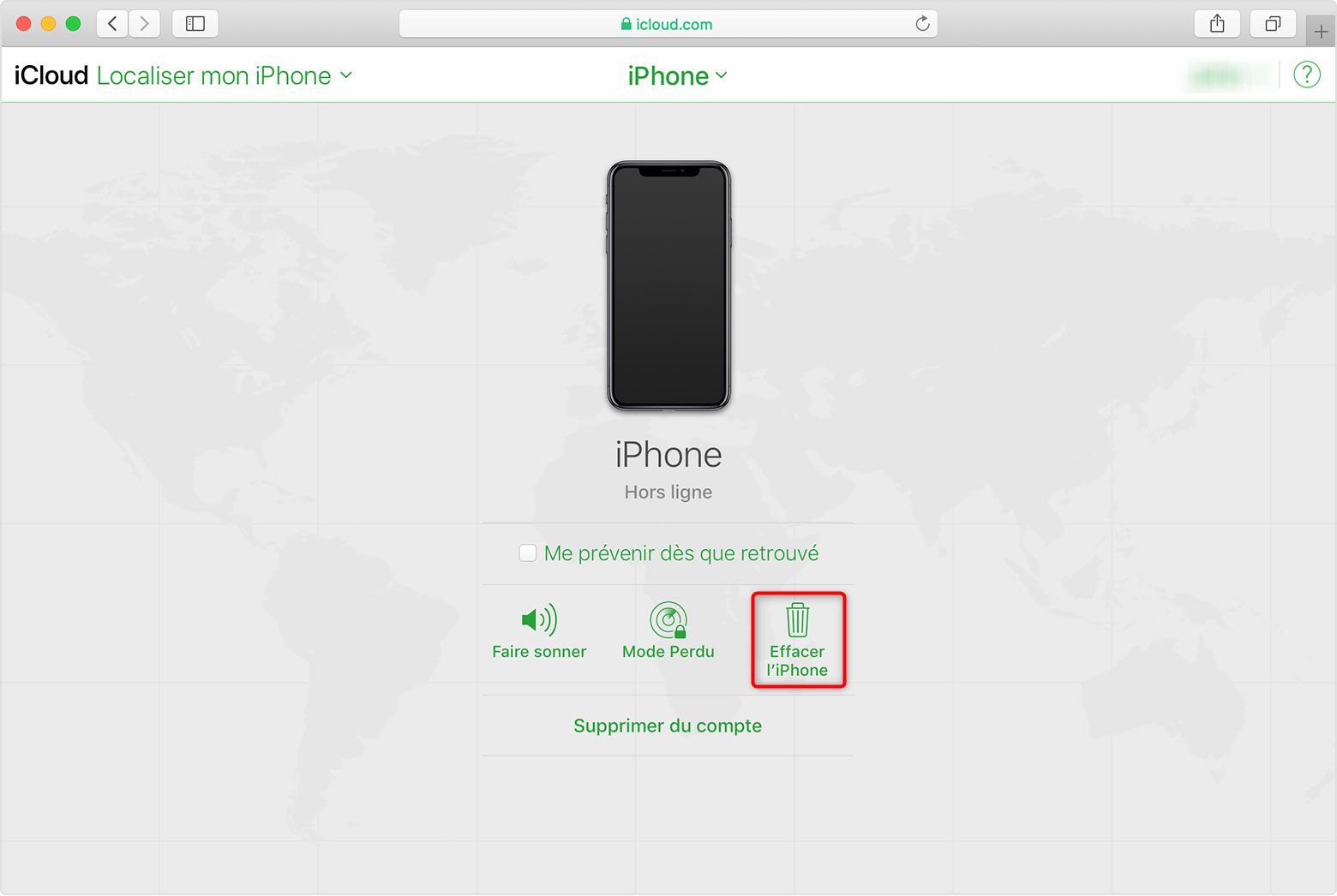 Déverrouiller un iPhone à écran cassé - étape 3