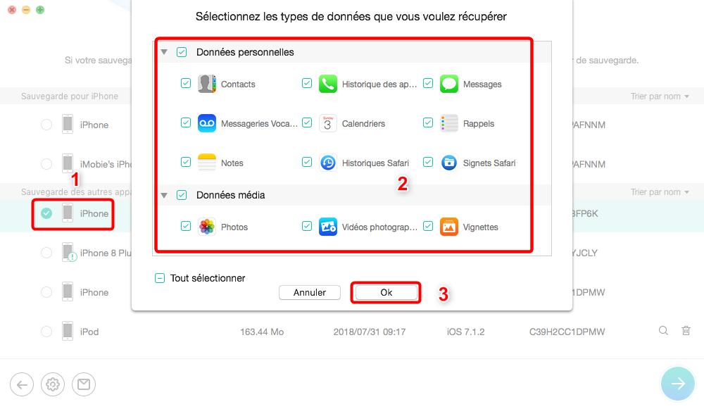 Comment extraire les fichiers depuis iTunes -étape 2