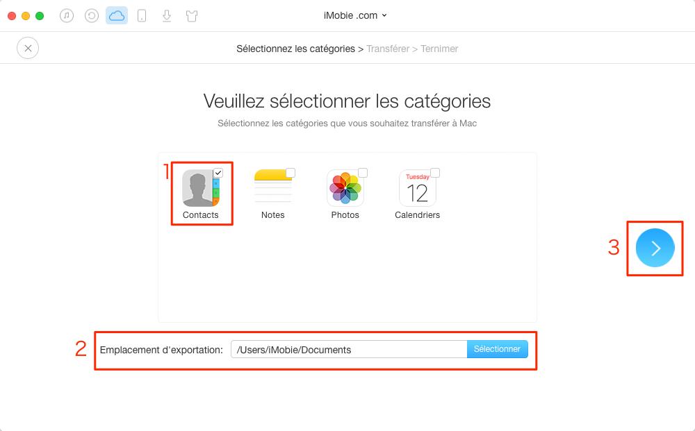 Comment exporter des contacts iCloud sur Mac – étape 3