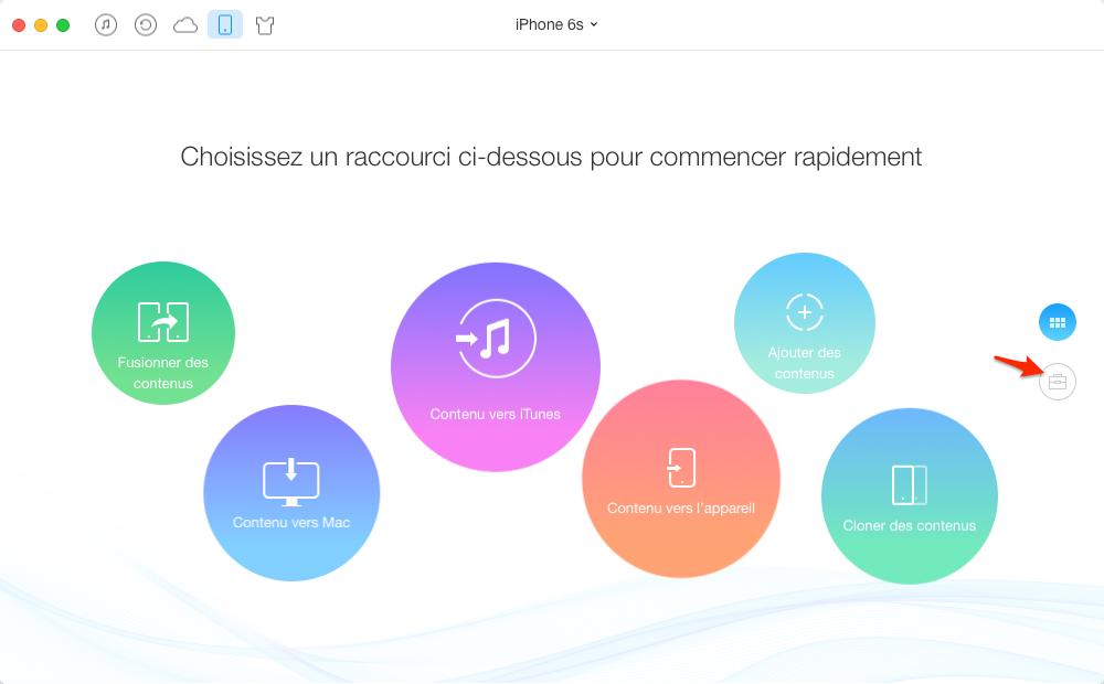 Importer de la musique de Mac sur iPhone 6 - étape 1
