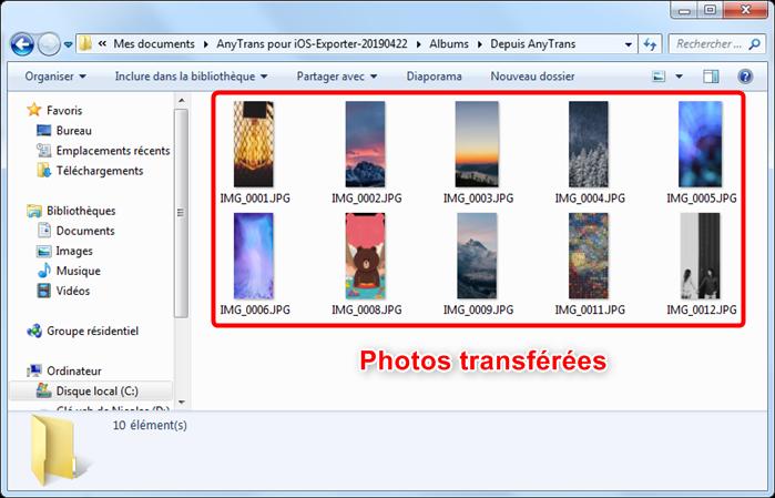 Comment transférer des photos de l'iPhone vers PC - étape 4