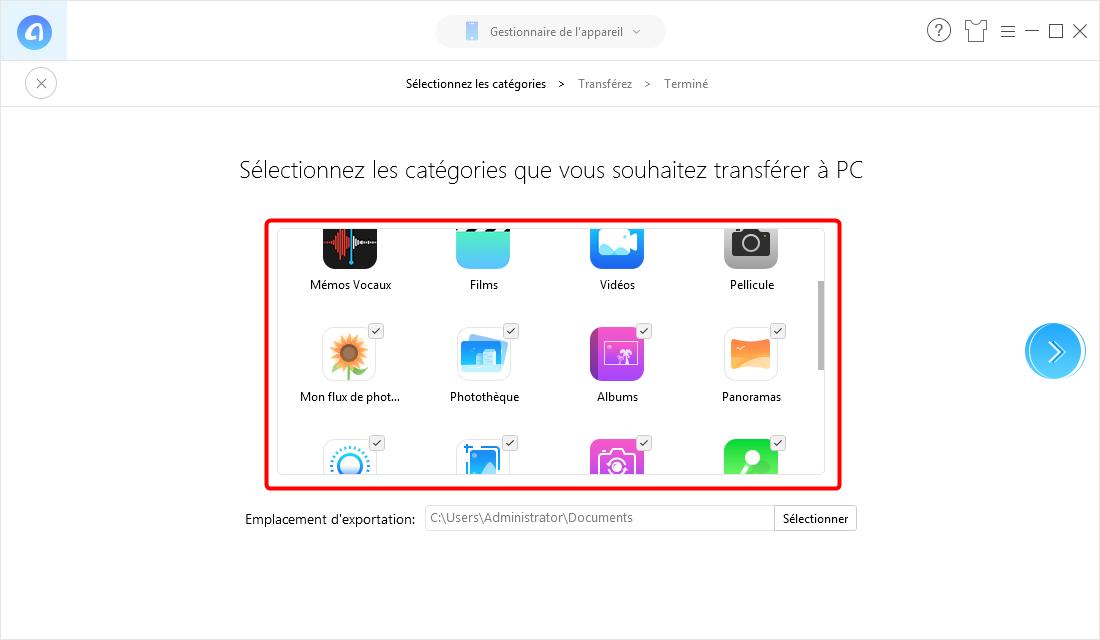 Comment transférer les photos iPhone vers PC en un clic