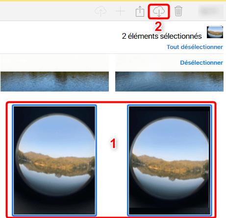 Télécharger des photos via iCloud