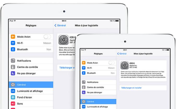 Comment mettre à jour vers iOS 8