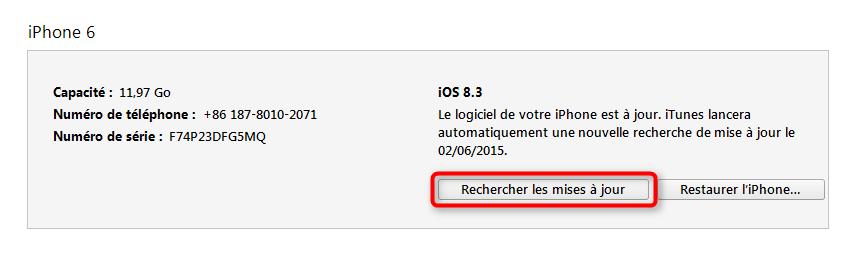 Comment mettre à jour vers iOS 8 via iTunes