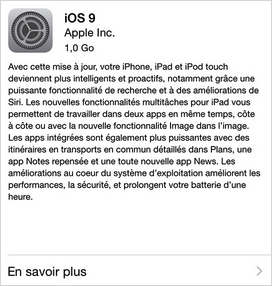 Comment installer iOS 9 depuis votre iPhone/iPad/iPod touch