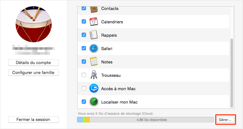 comment libérer le stockage iCloud 4