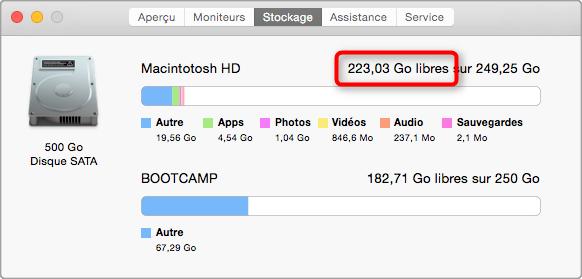 Vérifier l'espace disponible de votre Mac
