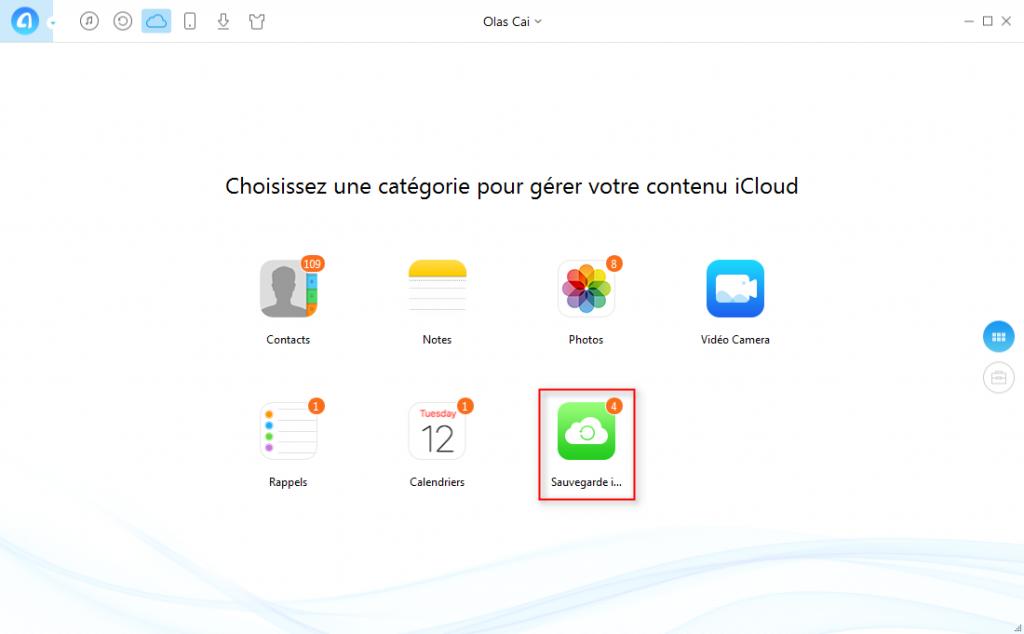 Comment lire la sauvegarde iCloud iPhone 7/7Plus sur PC -étape 2