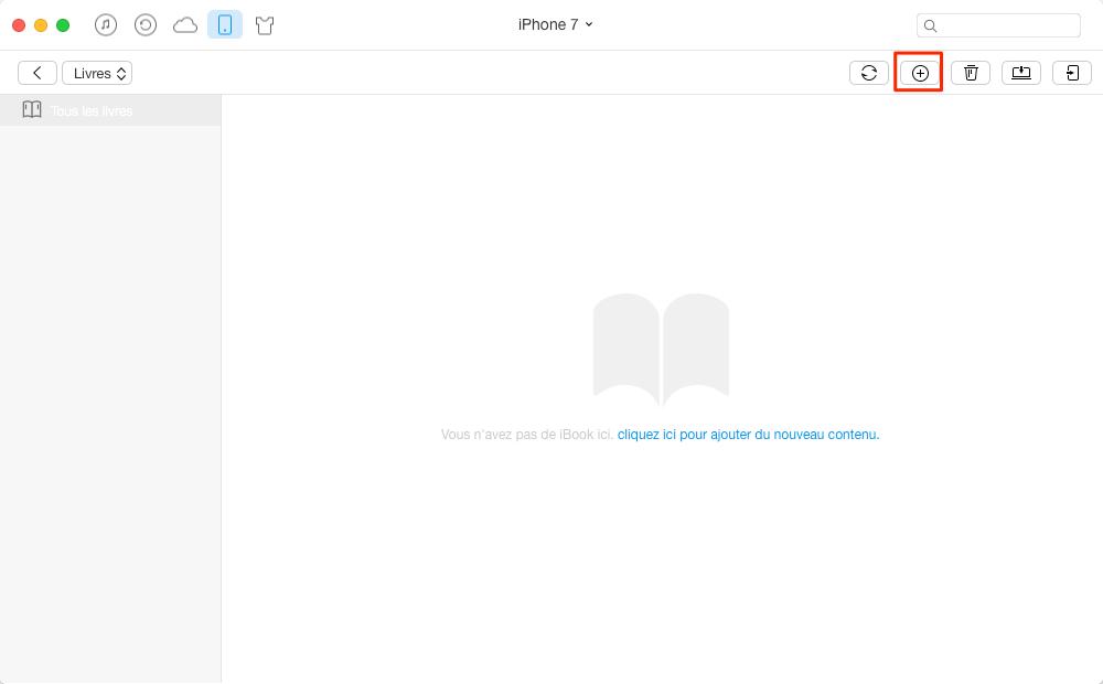 Comment ajouter PDF sur iPhone 7 avec AnyTrans - étape 2