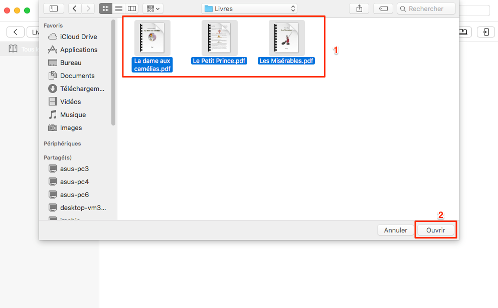 Comment mettre PDF sur iPhone 7 avec AnyTrans - étape 3