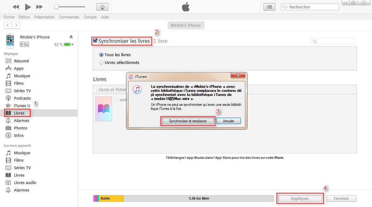 Comment synchroniser PDF pour iPhone 7/7 Plus avec iTunes