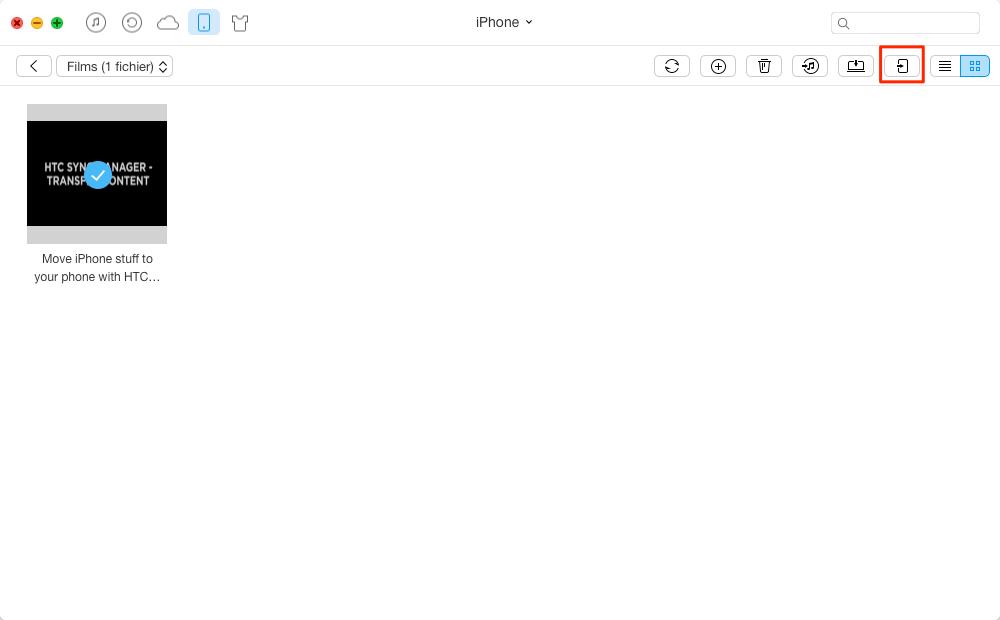 Comment transférer des vidéos de l'iPhone à l'iPad - étape 2