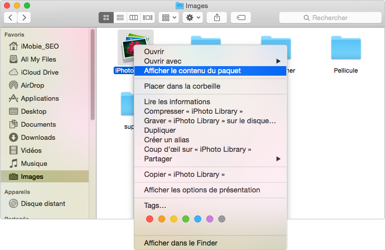 Nettoyer Cache d'iPhoto de Mac manuellement – étape 2