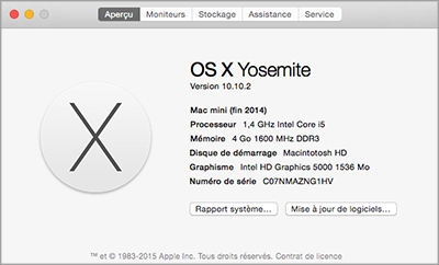 Vérifier la quantité de la mémoire de Mac