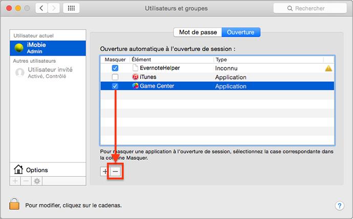 Désactiver les lancements au démarrage d'un Mac qui rame