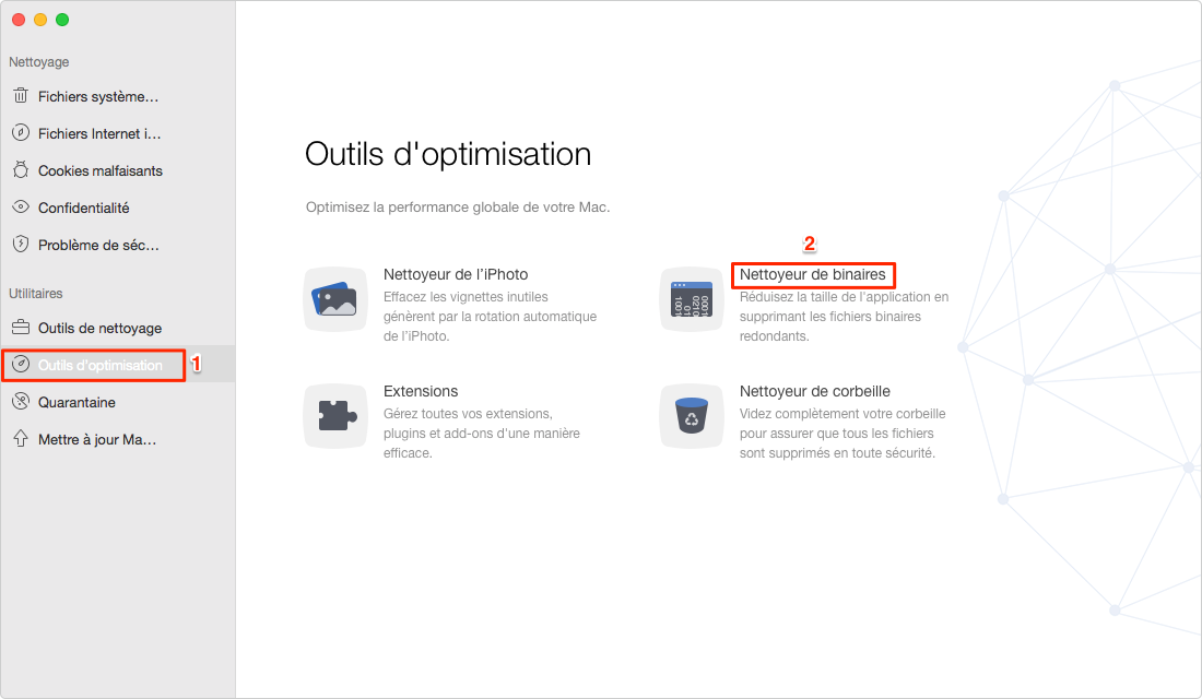 Nettoyer Universal Binaries sur votre Mac avec MacClean – étape 1