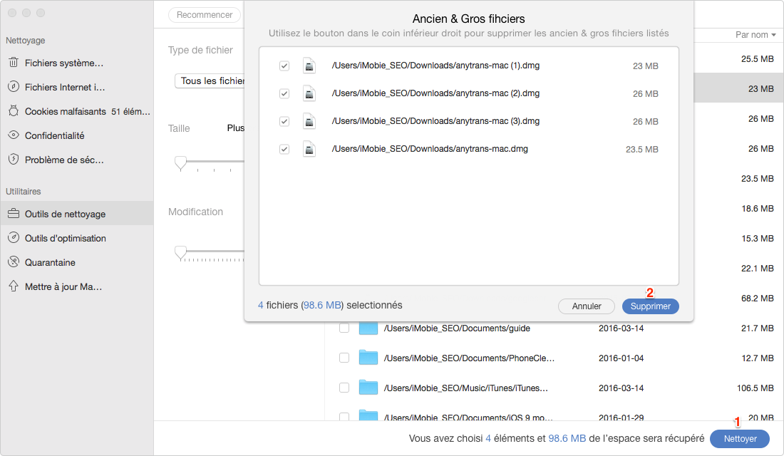Comment supprimer des téléchargements sur un Mac - étape 3